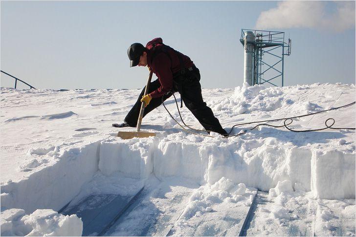 сосульки на доме и снег не убирают